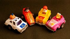 Early 1980s Happy Meal Toys, Pullback Cars by Monkey River Town, via Flickr