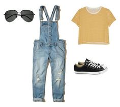 """""""Untitled #4"""" by aspen-hart ❤ liked on Polyvore featuring Hollister Co., Monki, Converse and Yves Saint Laurent"""