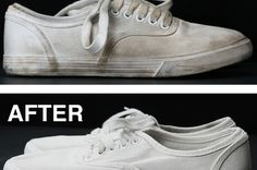 Finally There's An Easy Way To Clean Off Your White Shoes To Make Them Look Brand New Again