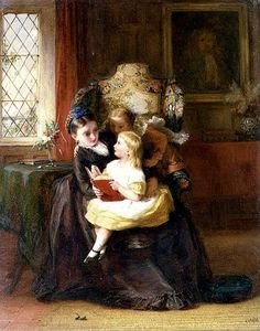 'Domenica pomeriggio' di George Bernard O'Neill  (1828 – 1917)