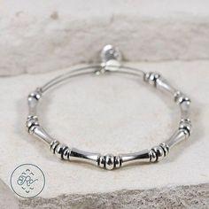 "Sterling Silver Plated - ALEX & ANI Bamboo Charm 13.4g - Bracelet (7"") GL1902 - http://designerjewelrygalleria.com/alex-ani/sterling-silver-plated-alex-ani-bamboo-charm-13-4g-bracelet-7-gl1902/"