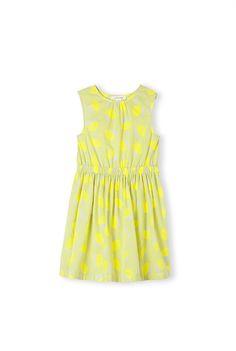 Leaf Print Dress in vibrant yellow by Country Road
