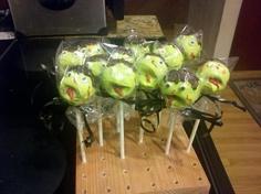 zombie cake pops!  Kinda looks like zombies invaded Sesame Street ;)