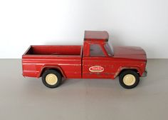 RARE Antique Tonka JEEP Red Pick Up Truck by by UptownVintage, $49.00