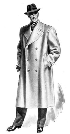Ulster Coat - This was a long, belted coat often made with a removable shoulder cape or hood.