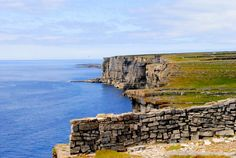 Ireland Cliff top Aran Islands,long hike up and  yeah , I peeked right over the edge!