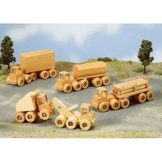 Wrecker, Dump Truck, & Heavy Haulers Paper Woodworking Plan