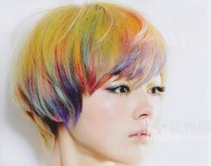 Short full color hair for asian women