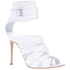 GIANVITO ROSSI strappy stiletto sandal ($918) found on Polyvore