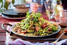 """Spargelsalat """"Kusskuss"""" Our popular recipe for asparagus salad """"kiss kiss"""" and more than more free recipes on LECKER. Easy Salad Recipes, Easy Salads, Detox Recipes, Vegetarian Lifestyle, Vegetarian Recipes, Healthy Recipes, Asparagus Salad, Asparagus Recipe, Detox Salad"""