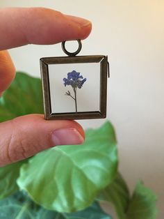 Forget-Me-Not Necklace-Flower Necklace by GlassHouseCollection