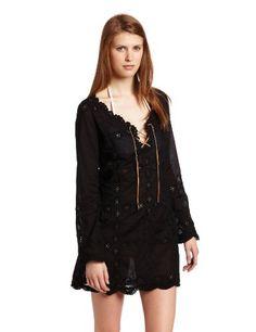 Letarte Womens Bell Sleeve Doily Dress $125.61