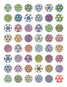 Kaleidoscope Patterns mosaic round digital collage by images4you