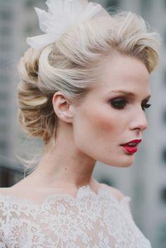 29 stunning vintage wedding hairstyles - mon cheri bridals intended for vintage wedding hair styles 7449 Best Wedding Makeup, Wedding Hair And Makeup, Bridal Makeup, Hair Wedding, Wedding Dresses, Bridal Nails, Best Wedding Hairstyles, Vintage Hairstyles, Bridal Hairstyles