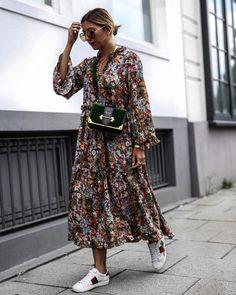 15 Langarm Kleider für den Herbst - Outfit ideas for ageless style - Mode Fashion Mode, Look Fashion, Street Fashion, Winter Fashion, Womens Fashion, Fashion Trends, Fashion Ideas, Trendy Fashion, Fashion 2018