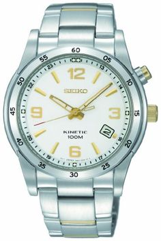 Seiko Mens SKA503 Stainless Steel Analog with White Dial Watch ** To view further for this item, visit the image link. This Amazon pins is an affiliate link to Amazon.