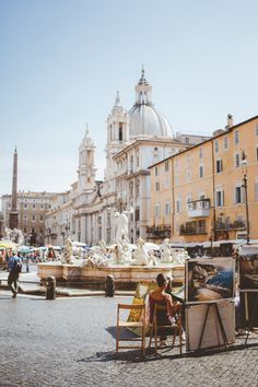 Piazza Navona, Rome, Italy...great spot for am italian coffee. #passporter