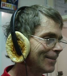 Pie on ear headphones  Using these high powered headphones, you can turn your amplifier up loud without annoying your neighbors.  Tested with 800 watts power input for two minutes, there was no adverse effects. The earpads were then found to have been warmed to a comfortable temperature.  The headphones have a durable lightweight headband, with easy positioning adjustment for the earpads.