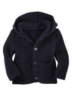 Garter-stitch hooded cardigan   Gap $24.95