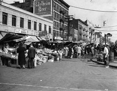 Little Italy, Crescent Avenue, Bronx in the 1940's.