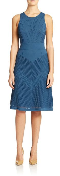 Catherine Malandrino Monac Amara Dress Blue