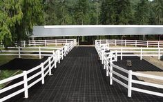 Hoofgrid® - Pallet - not outside like this, but this stuff is great for arena doorways, and for areas where horses tie to prevent footing from being removed! Good for Paddock area