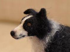 Needle Felted Custom Dog Portrait: OOAK Sculpture, Border Collie. $250.00, via Etsy.