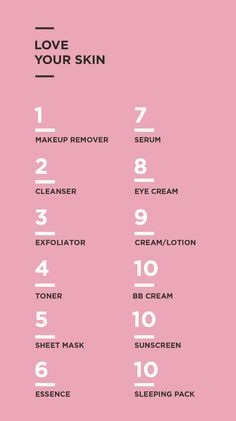 The complete korean beauty routine. ❣️ #WomensSkinCareAntiAging #diyskincarehomemade #KoreanBeautyRoutine Skin Care Regimen, Skin Care Tips, Skin Tips, Korean Beauty Routine, Korean Beauty Tips, Beauty Guide, Asian Beauty, Beauty Tricks, Beauty Hacks Skincare