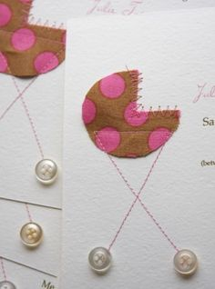 diy babyshower invites. While I have no idea how to sew..this is adorable!  use what ever extra fabric you have:)