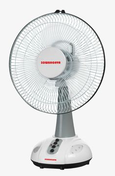 White Small Table Fan
