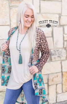 Crazy Train Cross The River Cardigan Animal Print Western Kimono Western Crazy Train Clothing, Country Wear, Country Chic, Leopard Cardigan, Short Kimono, New Fashion, Womens Fashion, Style Me, Kids Outfits