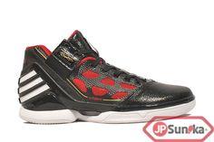 newest 71a39 d9d0d adidas adiZero Rose 2 Away - Black Red