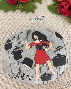 #taşboyama #stonepainting #details #paintig #ability #music #art #red #mutluyumçünkü #mmoddakk