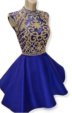 Intermittently the shirtless blue royal wedding dress of #Short Homecoming Dress#HomecomingDresses#Short PromDresses#Short CocktailDresses#HomecomingDresses