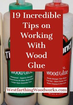 This is the ultimate tip guide for working with wood glue. Everything you need to know to make your woodworking stick together perfectly is all right here, so pin it for later, and enjoy. Cool Woodworking Projects, Woodworking Joints, Learn Woodworking, Popular Woodworking, Diy Wood Projects, Wood Crafts, Woodworking Plans, Woodworking Lessons, Woodworking Projects