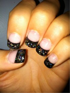 Black sparkle tips.