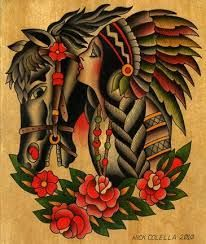 Image result for traditional horse tattoo