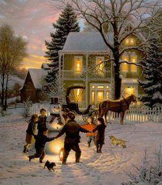 Viggo Johansen - Merry Christmas (1891).
