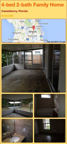 4-bed 2-bath Family Home in Casselberry, Florida ►$135,000 #PropertyForSale #RealEstate #Florida http://florida-magic.com/properties/82474-family-home-for-sale-in-casselberry-florida-with-4-bedroom-2-bathroom