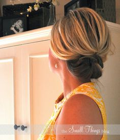 Really easy to do updo for folks with shoulder length hair