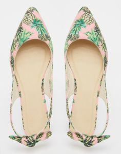 ASOS LARISSA Sling Back Pineapple Ballet Flats #shoes