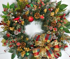 Artificial Evergreen Christmas Wreath  by ArtificialWreaths