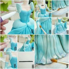"""Cinderella complete pictorial"" #4: N°63/91: arms, hands, dress details - CakesDecor"