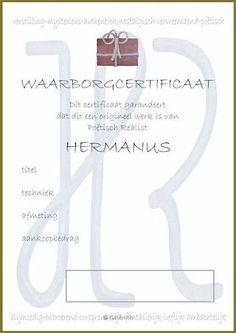 certificaat ontwerp