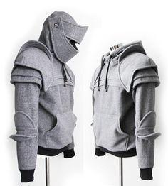 #Knight #Hoodie | Felpe medievali per uomini mai cresciuti by Katerine Kim: http://www.etsy.com/shop/iamknight?ref=seller_info