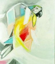 I Found You Waiting Clocked In Colour Macaw Art Print $110.00 www.wallartroad.com.au #wallartroad #animals