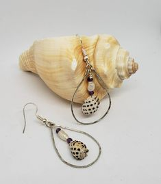 Hawaiian Grape Drupe Shells, Handmade Hoop Earrings by KuuipoDesignerJewels on Etsy Silver Hoops, Silver Hoop Earrings, Drop Earrings, Shell Bracelet, Shell Necklaces, Small Gift Boxes, Small Gifts, Hawaiian Jewelry, Cute Gifts