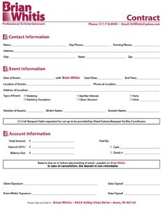DJ Contract - 7 Free PDF Download | Sample Templates - dj contract ...