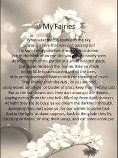 Fairy Poem | Fairy Activities