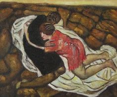 Death and the Maiden by Egon Schiele Abstract Oil Painting on Canvas Wall Decor Portrait Art Handpainted High Quality Oil Painting On Paper, Oil Painting For Sale, Oil Painting Abstract, Painting Prints, Painting & Drawing, Canvas Paintings For Sale, Oil On Canvas, Oil Paintings, Portrait Art